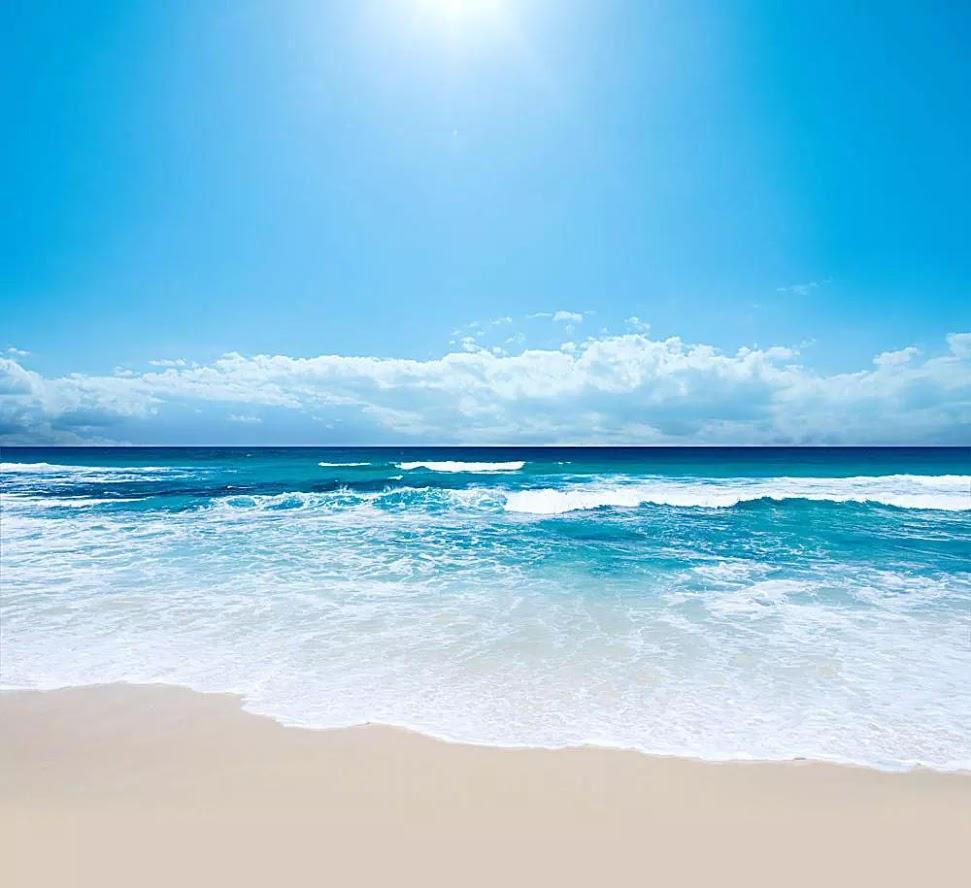 海邊太陽超級大